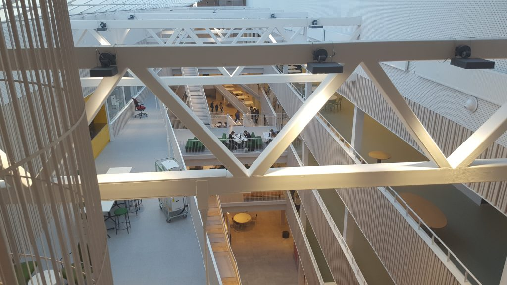 A view in the Royal Institute of Technology buildning Technology and Health