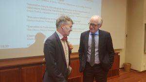 Professor Jonas Bergh and Ambassador of Norway, Kai Eide.