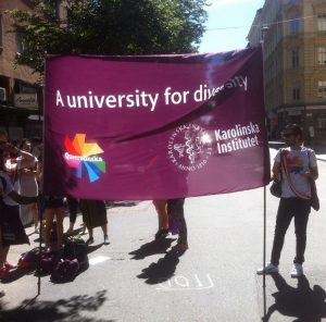 A banner for the Pride Parade